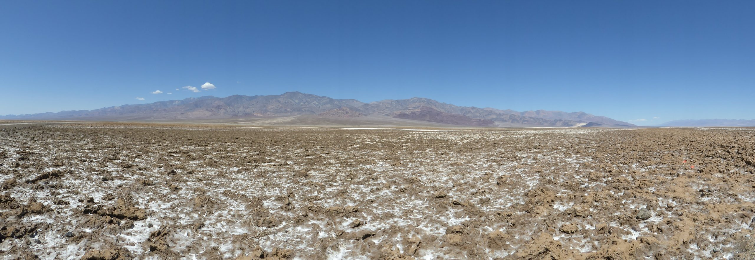 Panorama of Death Valley Icy Moon Analog Terrain